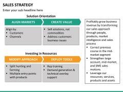 Sales strategy PPT slide 19