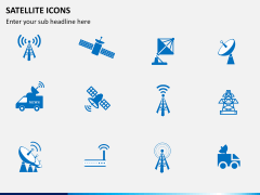 Satellite Icons PPT slide 1