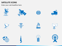 Satellite Icons PPT slide 4