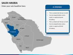 Saudi arabia map PPT slide 11