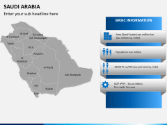 Saudi arabia map PPT slide 13