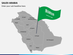 Saudi arabia map PPT slide 3
