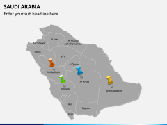 Saudi arabia map PPT slide 4