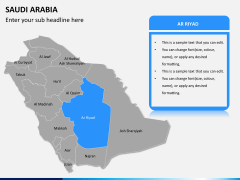 Saudi arabia map PPT slide 9