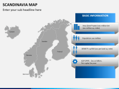 Scandinavia map PPT slide 15