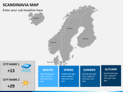 Scandinavia map PPT slide 16
