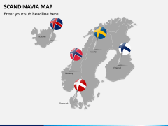 Scandinavia map PPT slide 18