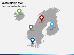 Scandinavia map PPT slide 6
