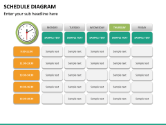 Schedule diagram PPT slide 22