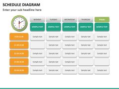 Schedule diagram PPT slide 23