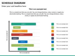 Schedule diagram PPT slide 18