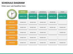 Schedule diagram PPT slide 19