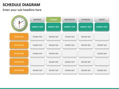 Schedule diagram PPT slide 20