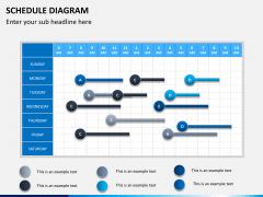 Schedule diagram PPT slide 1