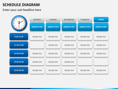Schedule diagram PPT slide 11