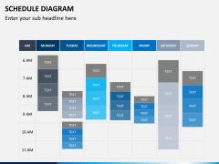 Schedule diagram PPT slide 12