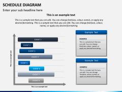 Schedule diagram PPT slide 3