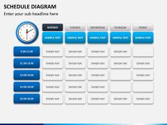 Schedule diagram PPT slide 7