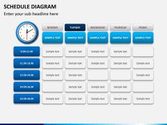 Schedule diagram PPT slide 8