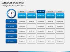 Schedule diagram PPT slide 9