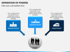 Separation of powers PPT slide 2
