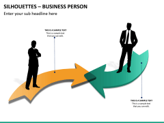 Silhouettes business person PPT slide 30