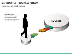 Silhouettes business person PPT slide 31