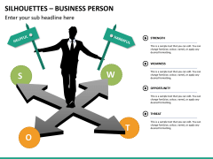 Silhouettes business person PPT slide 32