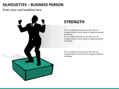 Silhouettes business person PPT slide 33