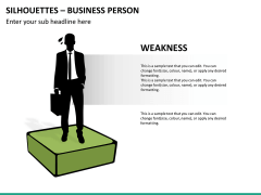 Silhouettes business person PPT slide 34