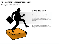 Silhouettes business person PPT slide 35
