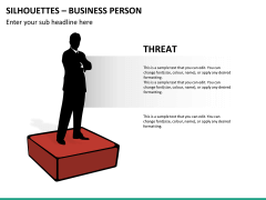 Silhouettes business person PPT slide 36