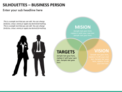 Silhouettes business person PPT slide 37