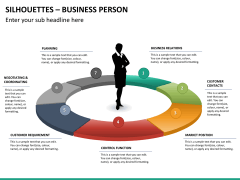 Silhouettes business person PPT slide 38