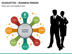 Silhouettes business person PPT slide 21