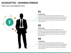 Silhouettes business person PPT slide 22