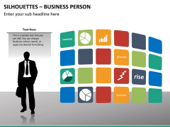 Silhouettes business person PPT slide 23