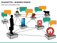 Silhouettes business person PPT slide 26