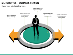 Silhouettes business person PPT slide 27