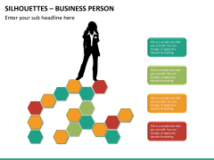 Silhouettes business person PPT slide 28