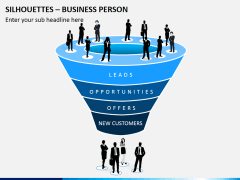 Silhouettes business person PPT slide 1