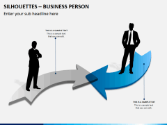 Silhouettes business person PPT slide 11