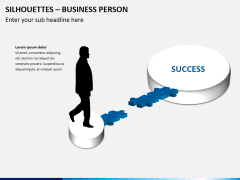 Silhouettes business person PPT slide 12