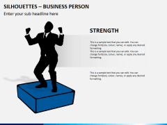 Silhouettes business person PPT slide 14