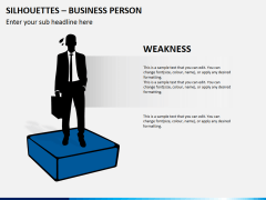 Silhouettes business person PPT slide 15