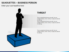Silhouettes business person PPT slide 17
