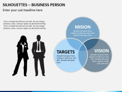 Silhouettes business person PPT slide 18