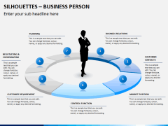 Silhouettes business person PPT slide 19