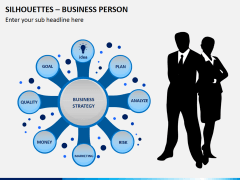 Silhouettes business person PPT slide 2
