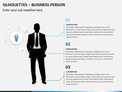 Silhouettes business person PPT slide 3